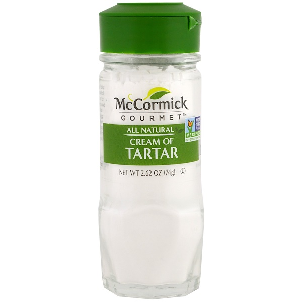 McCormick Gourmet, All Natural, Cream of Tartar, 2.6 oz (74 g) (Discontinued Item)