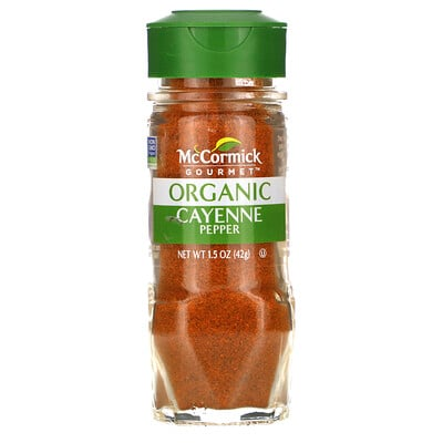 Купить McCormick Gourmet Organic, Cayenne Pepper, 1.5 oz (42 g)