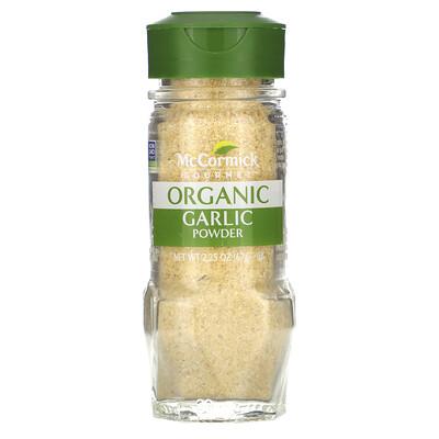Купить McCormick Gourmet Organic, Garlic Powder, 2.25 oz (63 g)