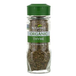 McCormick Gourmet, Orgânico, Tomilho, 0.65 oz (18 g)