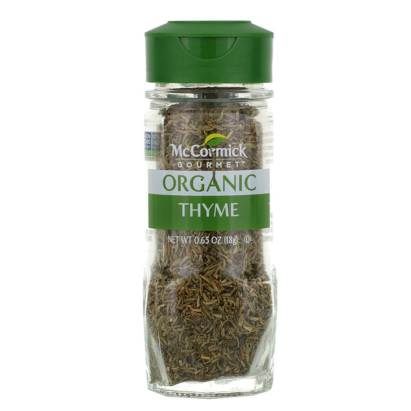 Organic, Thyme, 0.65 oz (18 g)