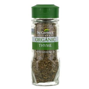 McCormick Gourmet, Organic, Thyme, 0.65 oz (18 g)