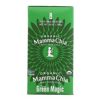Mamma Chia, Organic Chia Squeeze, Vitality Snack, Green Magic, 8 Squeezes, 3.5 oz (99 g) Each
