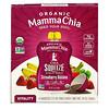 Mamma Chia, オーガニックチアスクイーズ, バイタリティースナック, イチゴ バナナ, 4スクイーズ, 各3.5オンス(99 g)