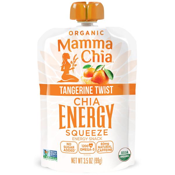 Mamma Chia, Organic Chia Energy Squeeze, Tangerine Twist, 3.5 oz (99 g) (Discontinued Item)