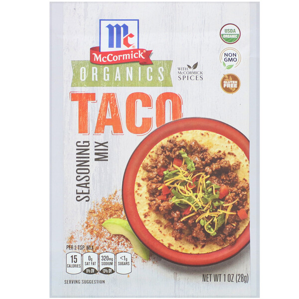 Organic Seasoning Mix, Taco, 1 oz (28 g)