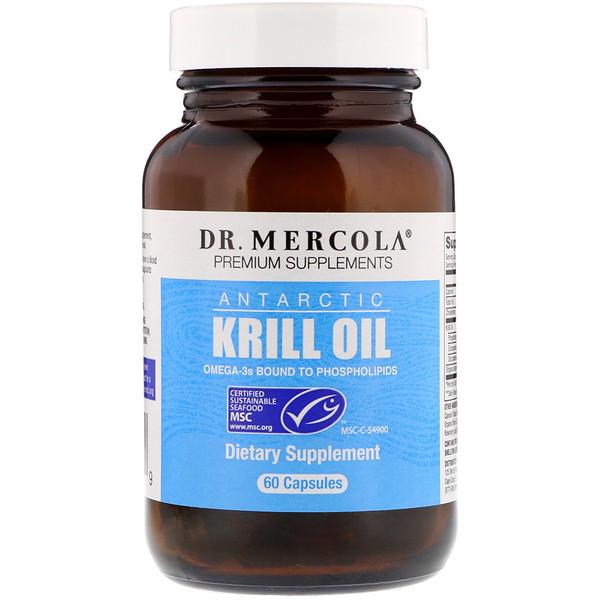 Dr、 Mercola, 南極磷蝦油,60粒膠囊