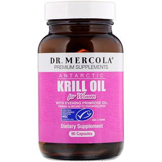Dr. Mercola, Óleo de Krill Antártico para Mulheres, 90 Cápsulas