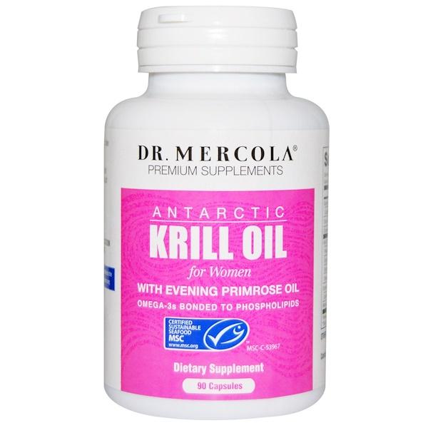 Dr. Mercola, Antarctic Krill Oil for Women, 90 Capsules