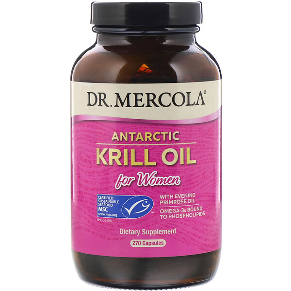Antarctic Krill Oil for Women, 270 Capsules