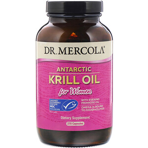 ДР. Меркола, Antarctic Krill Oil for Women, 270 Capsules отзывы покупателей