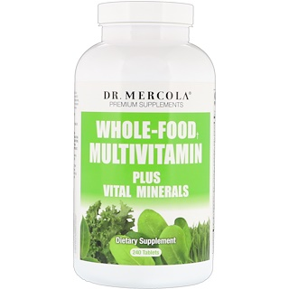 Dr. Mercola, Whole-Food Multivitamin Plus Vital Minerals, 240 Tablets