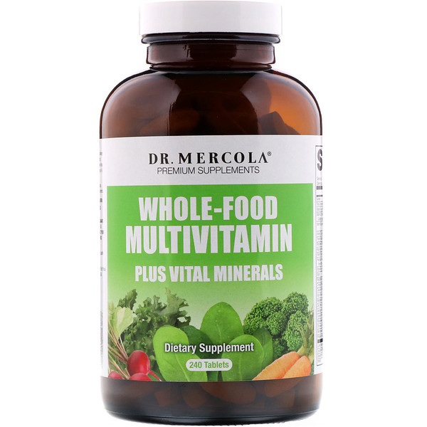 Dr. Mercola, Multivitamines et minéraux essentiels à une alimentation équilibrée, 240 comprimés