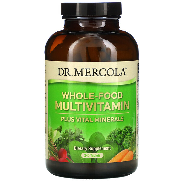 Dr. Mercola, Whole-Food Multivitamin Plus Vital Minerals, 240 Tablets