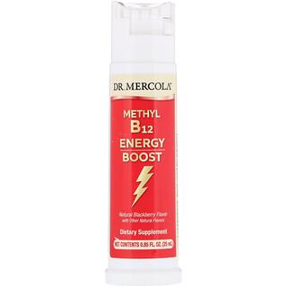 Dr. Mercola, Methyl Vitamin B12 Energy Booster, Natural Blackberry Flavor, 0.85 fl oz (25 ml)