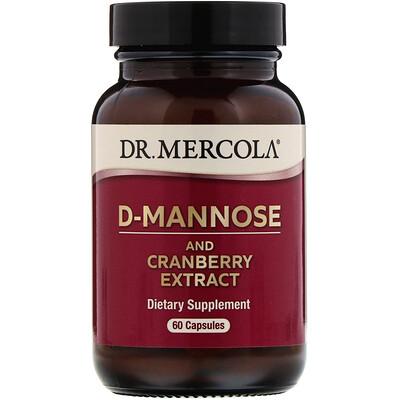 Купить Dr. Mercola D-манноза и экстракт клюквы, 60капсул