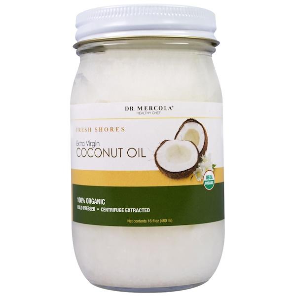 Dr、 Mercola, 有機特級初榨椰子油,16液體盎司(480毫升)