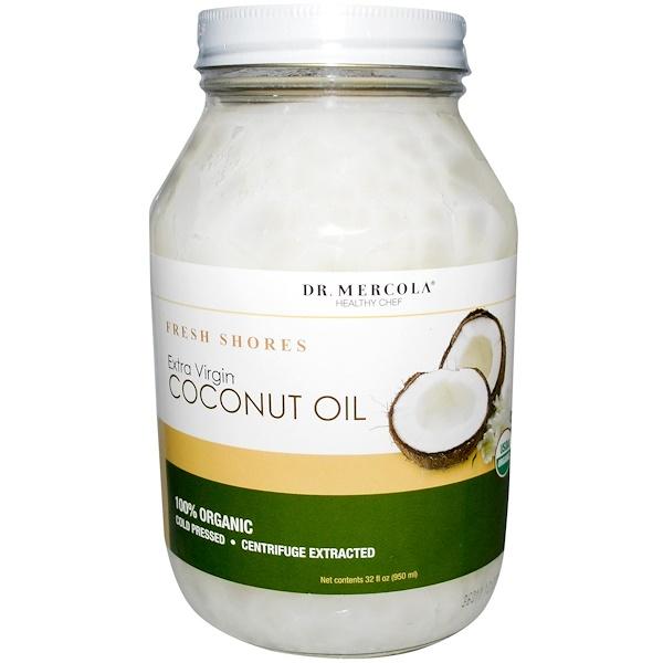 Dr. Mercola, Healthy Chef, Organic, Fresh Shores, Extra Virgin Coconut Oil, 32 fl oz (950 ml) (Discontinued Item)