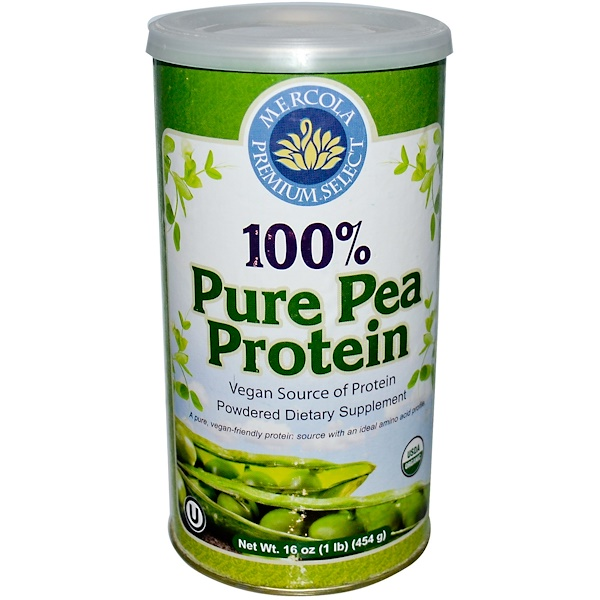 Dr. Mercola, Premium Select, 100% Pure Pea Protein, 16 oz (454 g) Powder (Discontinued Item)