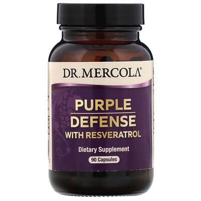 Dr. Mercola Purple Defense with Resveratrol, 90 Capsules  - купить со скидкой