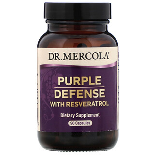 Dr. Mercola, 紫色防禦白藜蘆醇,90 粒膠囊