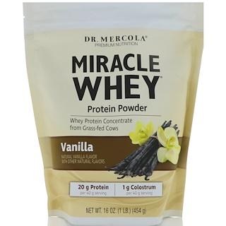 Dr. Mercola, Premium Nutrition, Miracle Whey, Protein Powder, Vanilla, 1 lb (454 g)