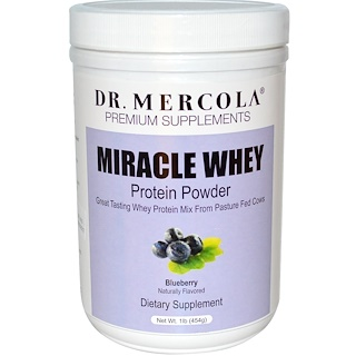 Dr. Mercola, Miracle Whey, Protein Powder, Blueberry, 1 lb (454 g)
