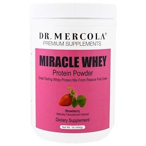 ДР. Меркола, Miracle Whey, Protein Powder, Strawberry, 1 lb (454 g) отзывы