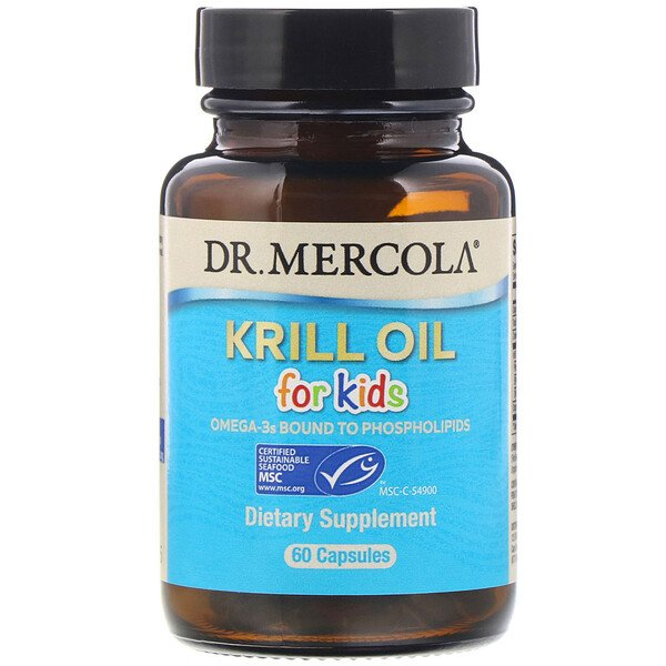 Dr. Mercola, Krill Oil for Kids, 60 Capsules