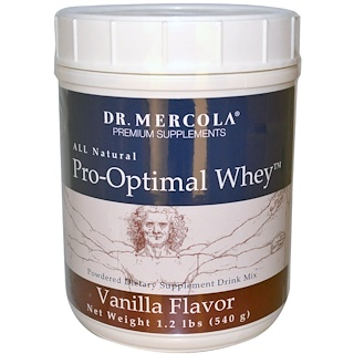 Dr. Mercola, برو-أوبتيمل واي، نكهة الفانيليا، 1.2 رطل (540 غرام)