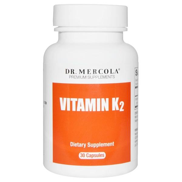 Dr、 Mercola, 高級補充劑,維生素K2膠囊,30粒