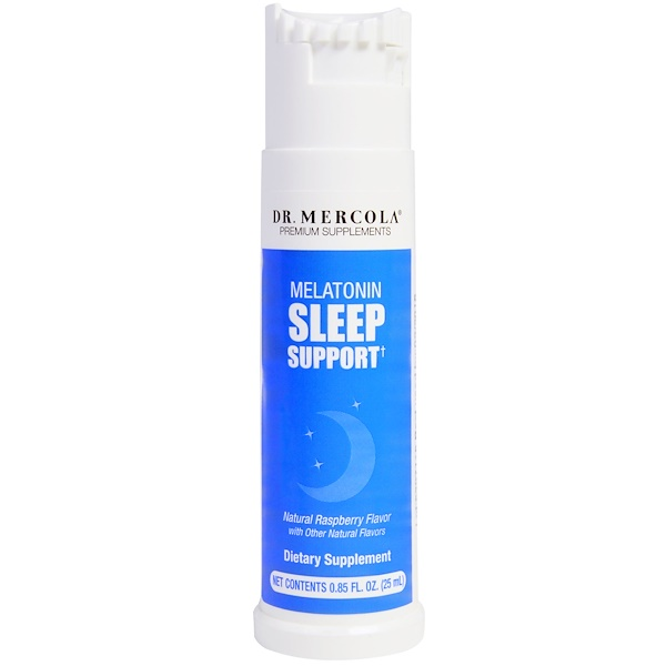 Dr. Mercola, Melatonin Sleep Support, Raspberry Flavor, .85 fl oz (25 ml)