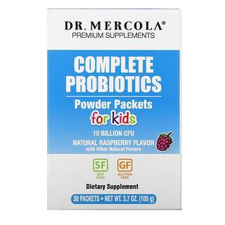 Dr. Mercola, 子供向けの完全プロバイオティクスパウダーパケット、天然ラズベリー風味、30袋、各0.12オンス(3.5g)