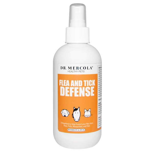 Dr. Mercola, Flea and Tick Defense, For Dogs and Cats, 8 oz (237 ml)