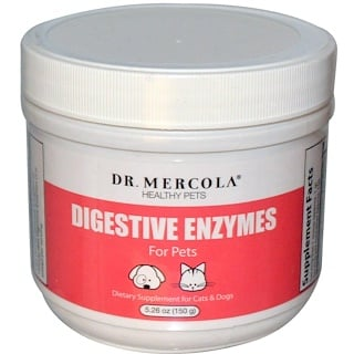 Dr. Mercola, Digestive Enzymes, for Pets, 5.26 oz (150 g)