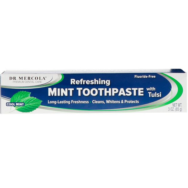Refreshing Toothpaste with Tulsi, Cool Mint, 3 oz (85 g)