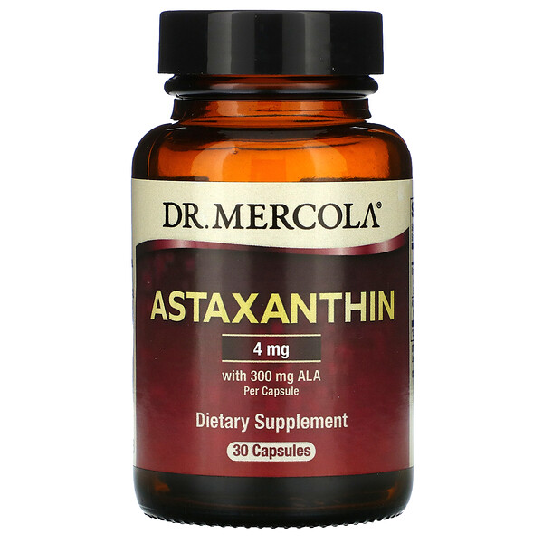 Dr. Mercola, Astaxanthin, 4 mg, 30 Capsules (Discontinued Item)