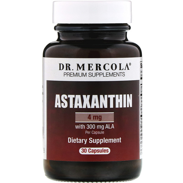 Dr. Mercola, Astaxanthin, 4 mg, 30 Capsules