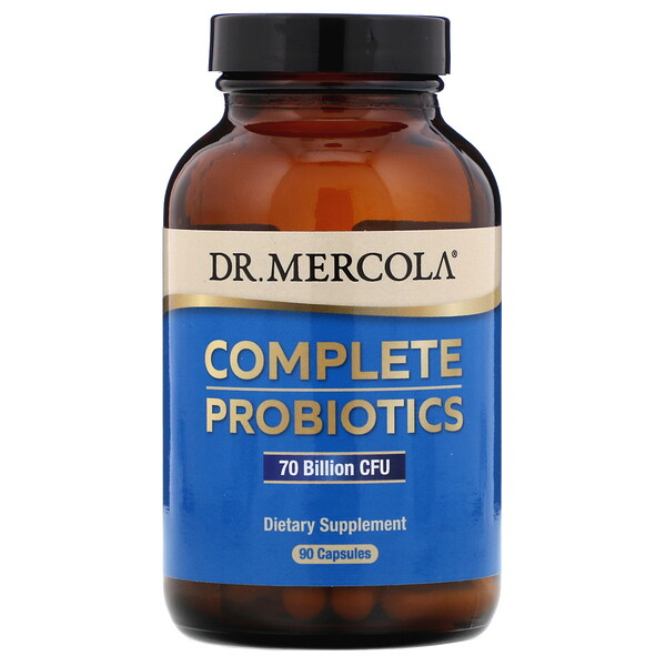 Dr. Mercola, Complete Probiotics, 70 Billion CFU, 90 Capsules