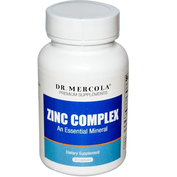 Dr. Mercola, Zinc Complex, An Essential Mineral, 30 Capsules (Discontinued Item)
