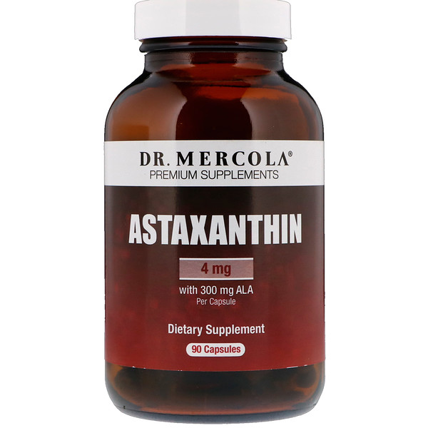 Dr. Mercola, Astaxanthin, 4 mg, 90 Capsules
