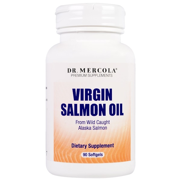 Dr. Mercola, Virgin Salmon Oil, 90 Softgels (Discontinued Item)