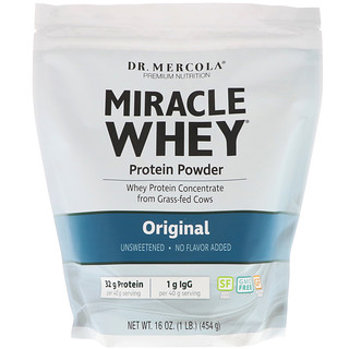 Dr. Mercola, Miracle Whey Protein Powder, Original, 16 oz (454 g)