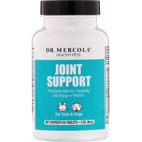 Dr. Mercola, Joint Support, For Cats & Dogs, 60 Tablets