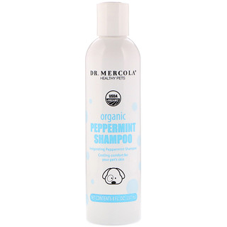 Dr. Mercola, Healthy Pets, Organic Peppermint Shampoo, for Dogs, 8 fl oz (237 ml)
