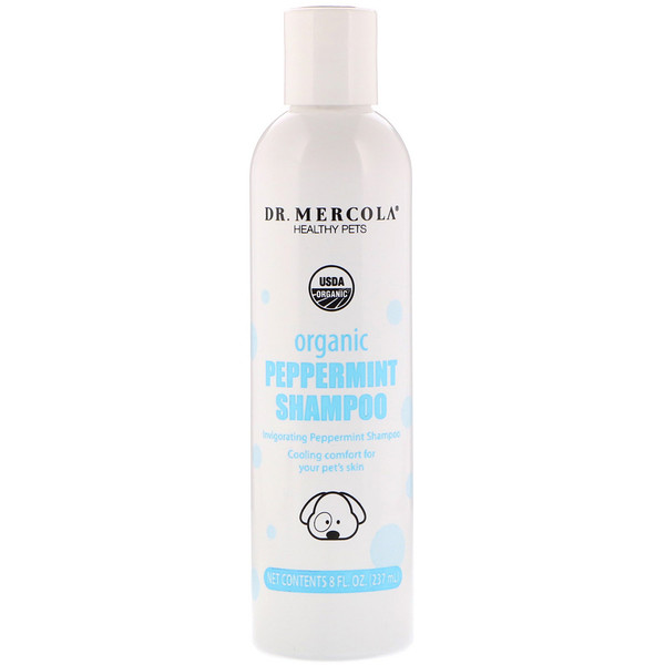 Healthy Pets, Organic Peppermint Shampoo, for Dogs, 8 fl oz (237 ml)
