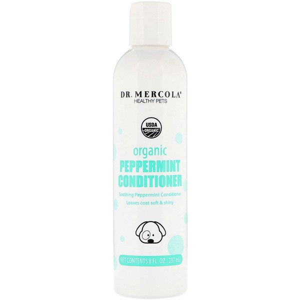 Dr. Mercola, Healthy Pets, Organic Peppermint Conditioner, for Dogs, 8 fl oz (237 ml)