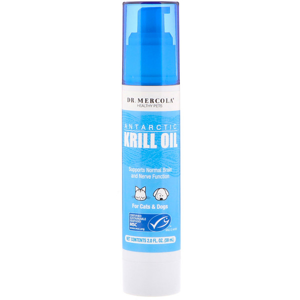 Dr. Mercola, Antarctic Krill Oil, For Cats & Dogs, 2.0 fl oz (59 ml) (Discontinued Item)