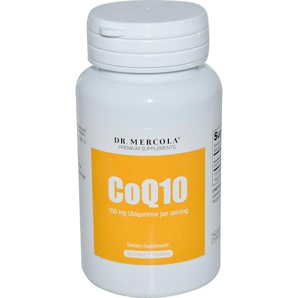 Dr. Mercola, CoQ10, 100 mg, 30 Licaps Capsules