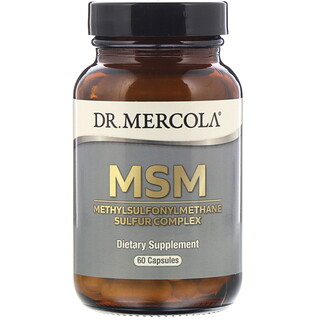 Dr. Mercola, МСМ, комплекс метилсульфонилметана и серы, 60капсул